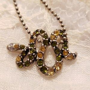Vintage Style Snake Necklace